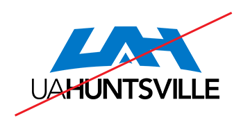 Example of Logo Misusage - the logo reads UAHuntsville